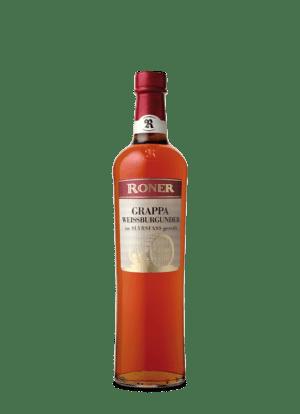 Roner Grappa Weißburgunder 40%vol. 0,7 l im SLYRS Whiskyfass gereift