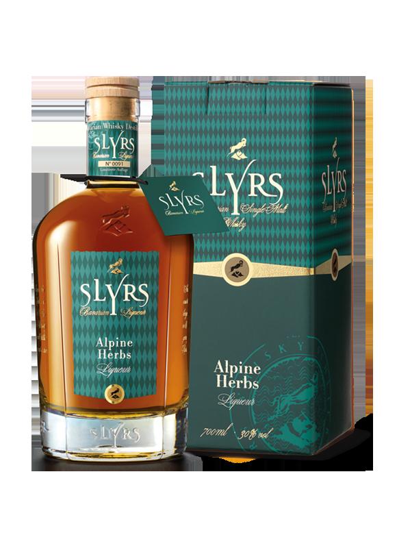 SLYRS Alpine Herbs Liqueur 30% mit Verpackung