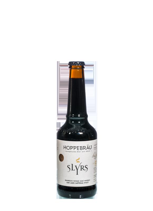 SLYRS Hoppebräu Bier 11,5% vol. 0,33 l gelagert im 12-jährigen SLYRS Fass