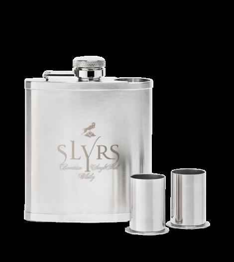 SLYRS Flachmann 180 ml inkl. 2 Bechern