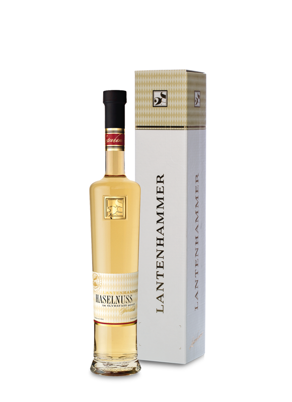 Lantenhammer Haselnussspirituose 42% vol. 0,5 l im SLYRS Whiskyfass gereift
