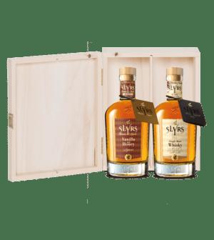 SLYRS Geschenkkiste ohne Inhalt für 2 Flaschen Slyrs 0,35 l