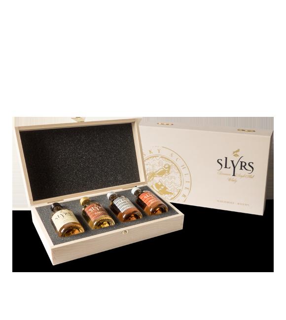 SLYRS Geschenkkiste ohne Inhalt für 4 x 0,05 l