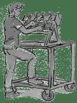 Kolorierte Illustration Abfüllen