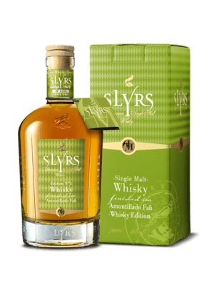 SLYRS Amontillado Faß Whisky Kartonage