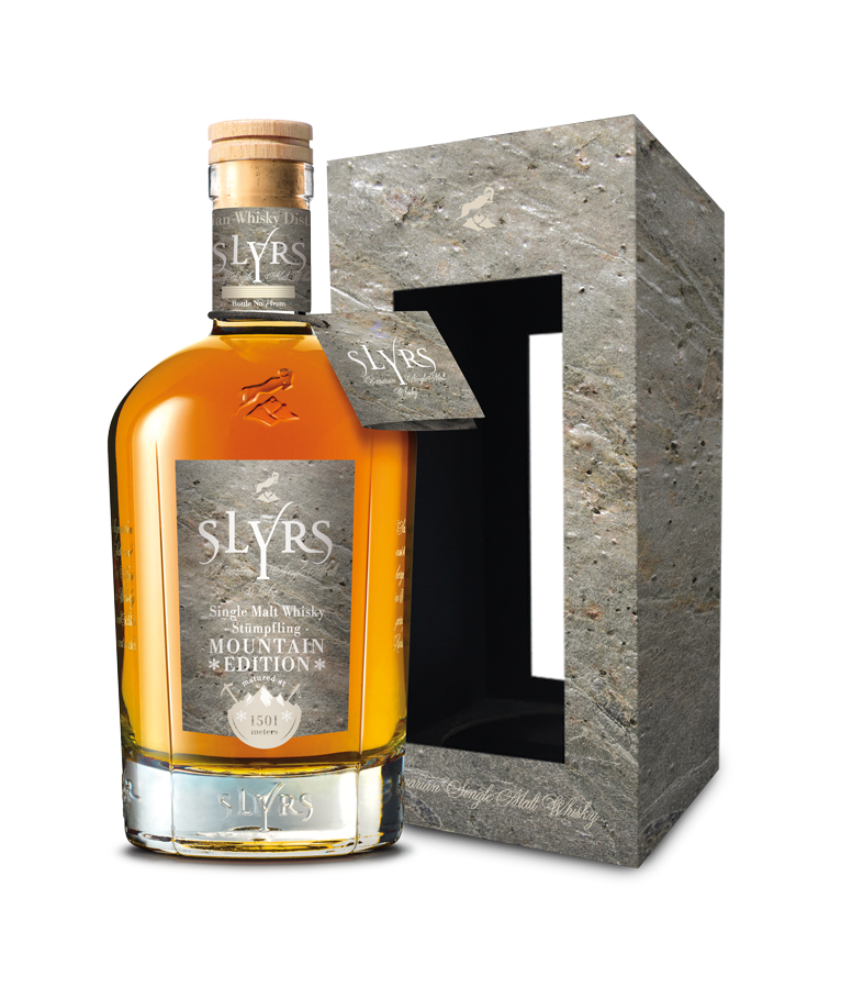 SLYRS Mountain Edition 700ml Steinoptik Package