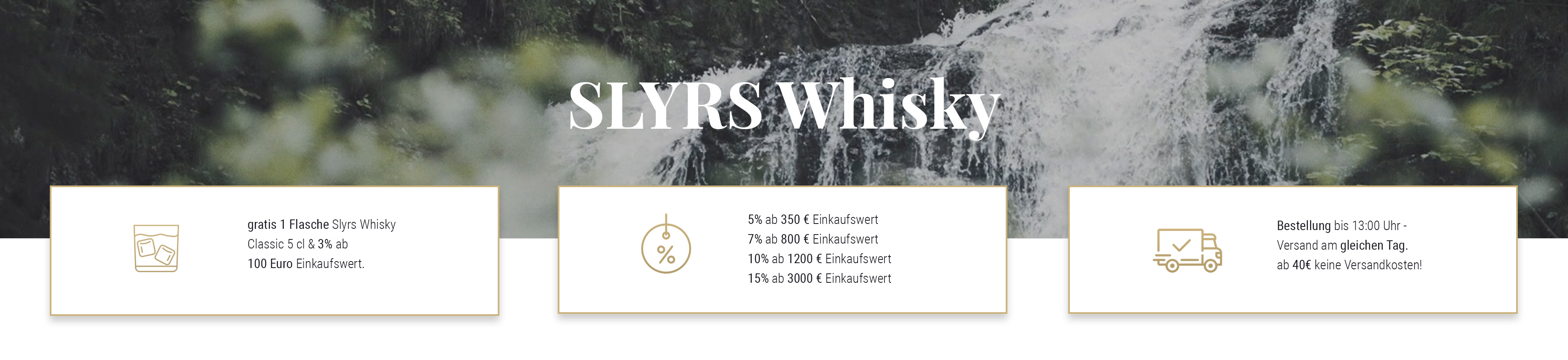 Slyrs Whisky Shop Banner