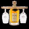 SLYRS Brettl für zwei SLYRS Degustationsgläser und eine Flasche SLYRS Whisky 0,7 l