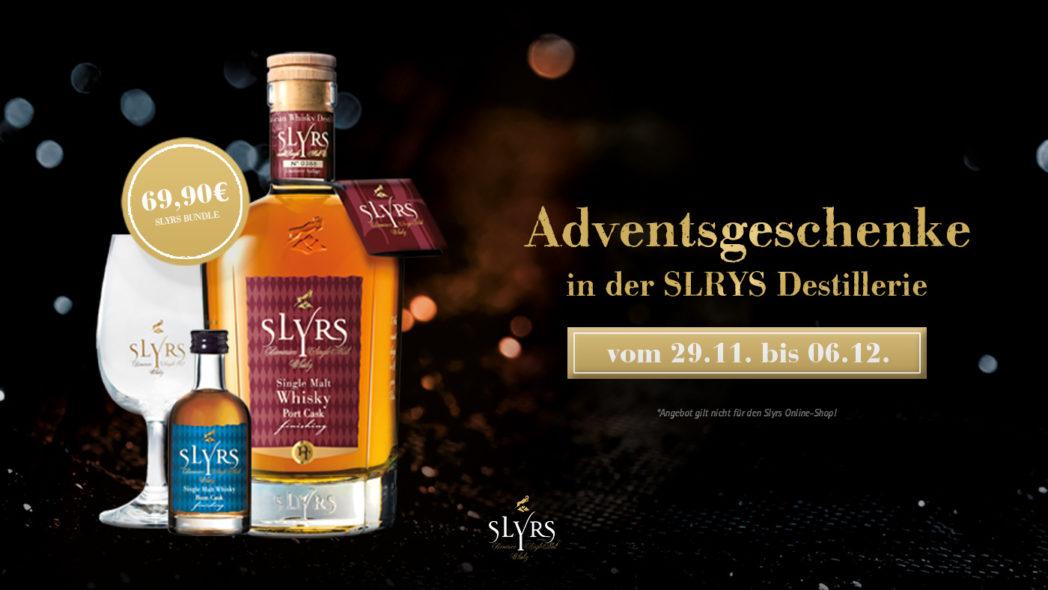 Adventsgeschenke in der SLYRS Destillerie